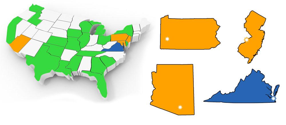 US locations